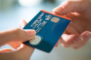 Tarjeta de credito color azul