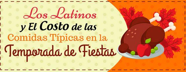 infografia costo de la comida latinos fiestas