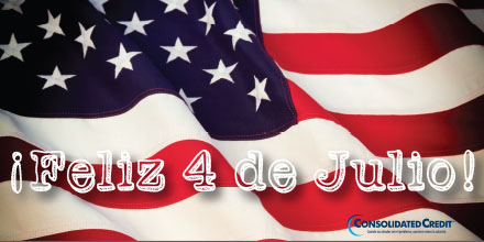 Feliz 4 de Julio consolidated credit