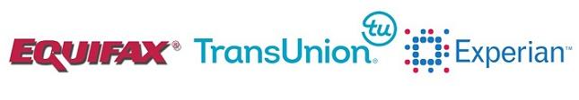 Tres buros de credito: Equifax, Experian y TransUnion