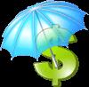 Paraguas signo de dinero