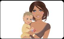 mamá y bebe