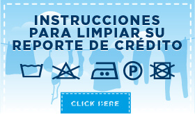 Infografía: Instrucciones para limpiar su reporte de crédito