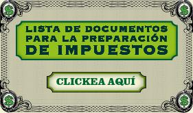 Infografía: Lista de documentos para la Preparación de Impuestos