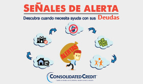 Infografía sobre señales de alerta descubra cuando necesita ayuda con sus deudas