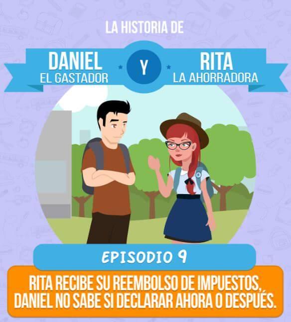 Episodio 9: Rita recibe su reembolso de impuestos, Daniel no sabe si declarar ahora o después