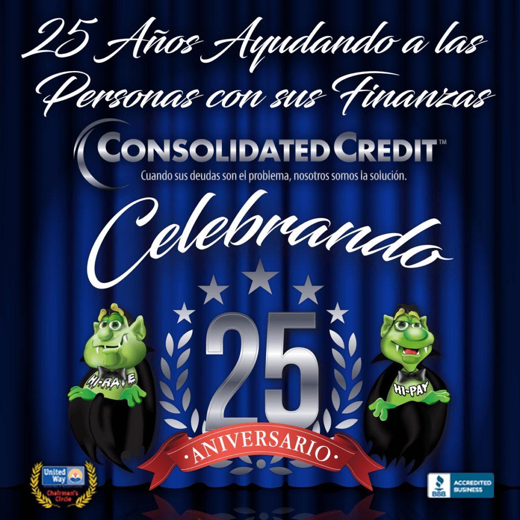 imagen sobre 25 años de Consolidated Credit