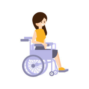 Physically Handicapped Person Living Full Happy Life With Disability Illustration With Smiling Woman In Wheelchair
