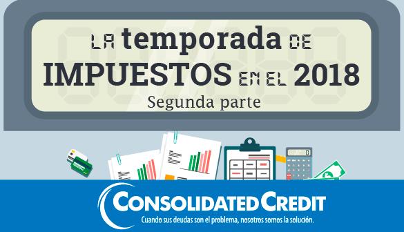 Infografía sobre los latinos y la temporada de impuestos en el 2018
