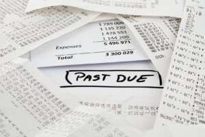 Past due bill to be paid on expenses