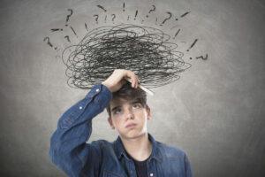 estudiante con problemas y dudas