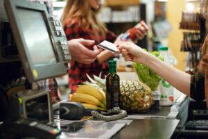 Compra de mercado con tarjeta de crédito