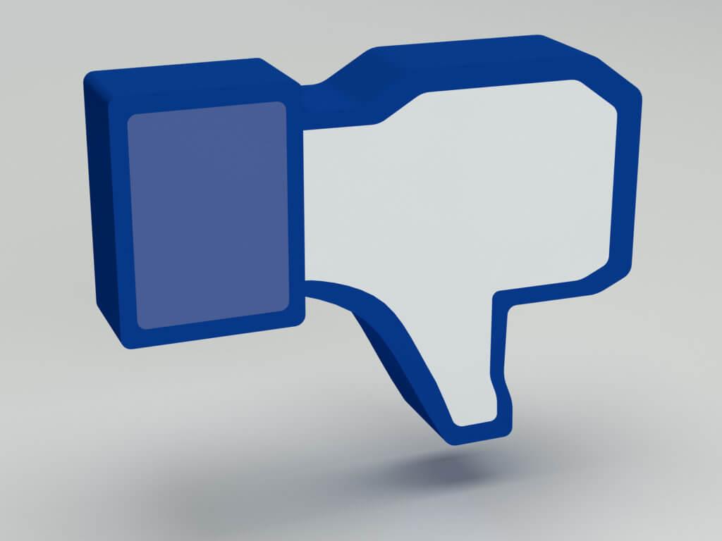 """Incono de facebook de """"no me gusta"""""""