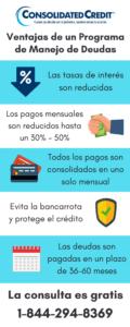 Infografía sobre ventajas de programa de manejo de deudas