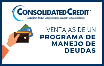 Banner sobre ventajas de programa de manejo de deudas