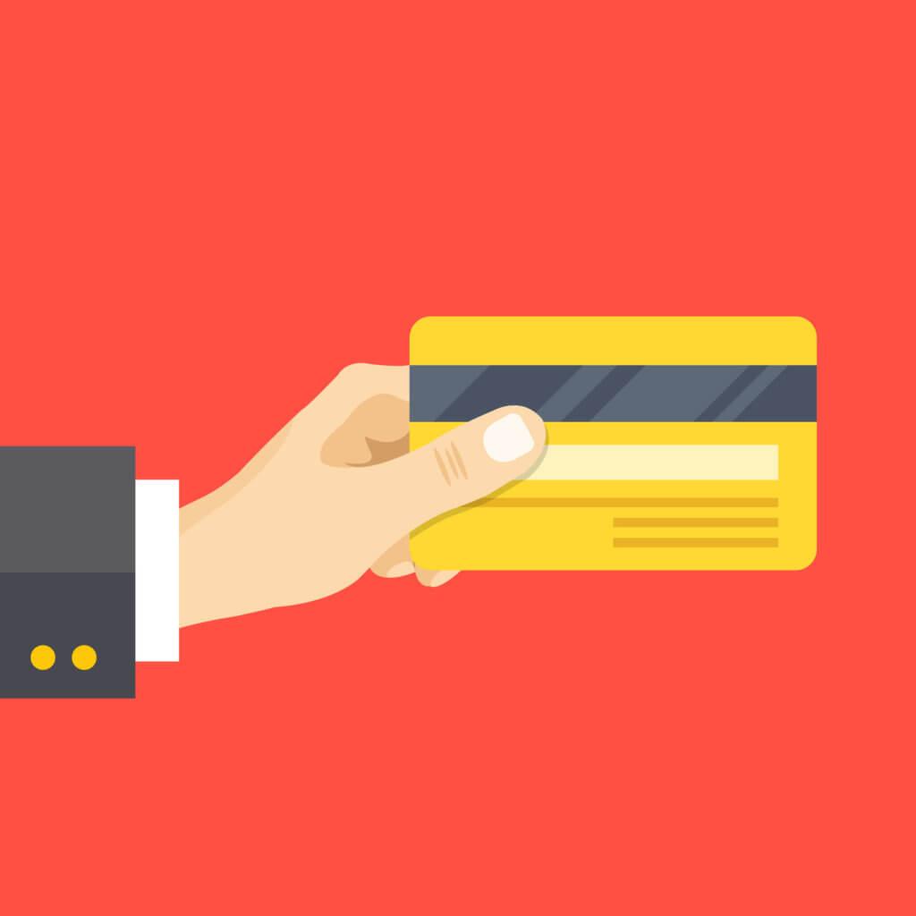 Mano con tarjetas de crédito