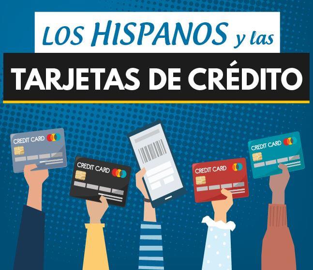 Banner de infografía sonre los hispanos y las tarjetas de crédito