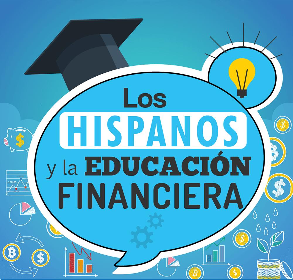 Header de infografía sobre los hispanos y la educación financiera