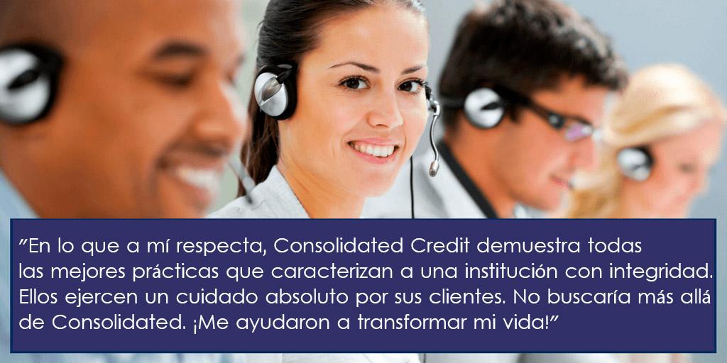 Consolidated Credit demuestra todas las mejores prácticas