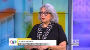 María Gaitán en el programa Contigo En La Comunidad