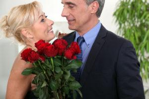 Pareja de enamorados en san valentin