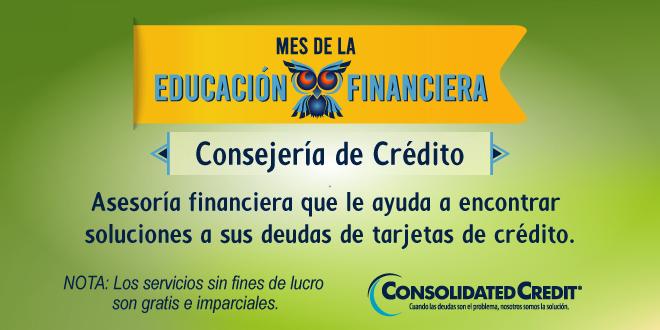 Asesoría financiera que le ayuda a encontrar soluciones a sus deudas de tarjetas de crédito.