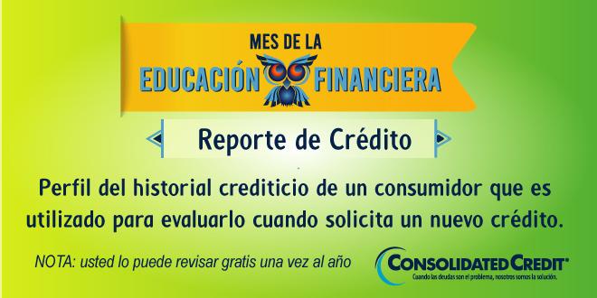 Perfil del historial crediticio de un consumidor que es utilizado para evaluarlo cuando solicita un nuevo crédito.