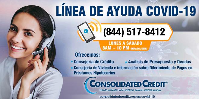 En un esfuerzo por ayudar a las personas como resultado del coronavirus, Consolidated Credit ha establecido una línea directa gratuita.