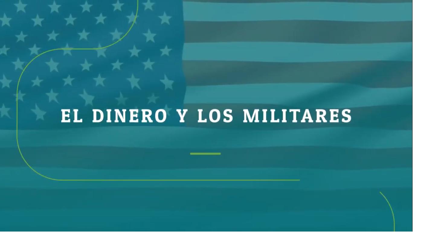dinero y militares