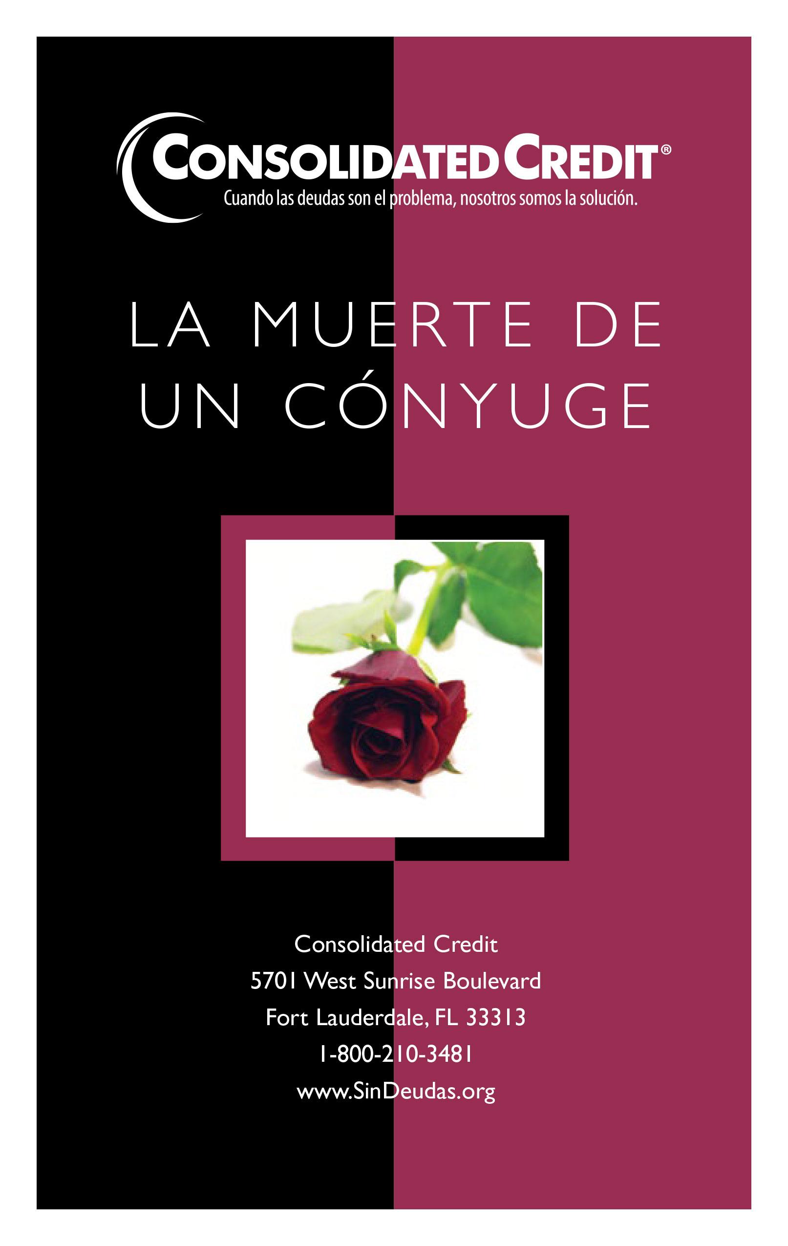 Este folleto está diseñado para mostrarle los pasos financieros a seguir después de la muerte de su cónyuge.