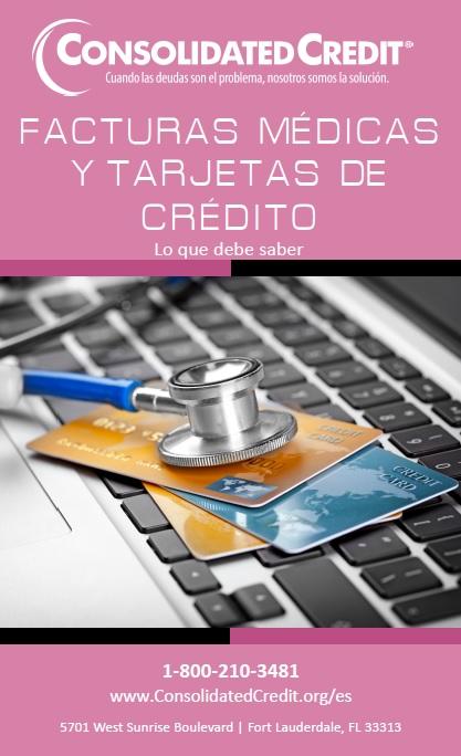 Facturas médicas y tarjetas de crédito - folleto