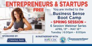 Esta primavera, Consolidated Credit y Comerica Bank organizarán una nueva serie de talleres virtuales para pequeñas empresas.