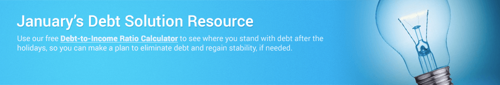 Use this month's financial resource to manage debt effectively