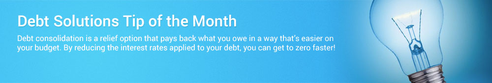 This debt solutions tip helps you find the debt relief you need
