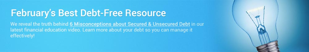 Use this month's financial resource to achieve freedom from debt