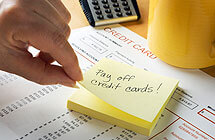 Make a plan to pay off credit card debt