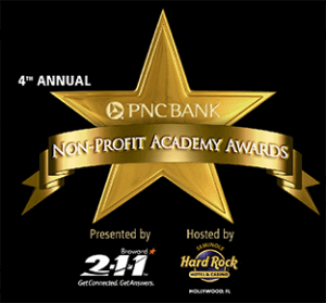 Nonprofit Awards banner for 2-1-1 Broward