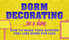 Infographic: Dorm Decorating on a Dime