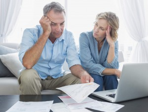 Couple worries together about debt