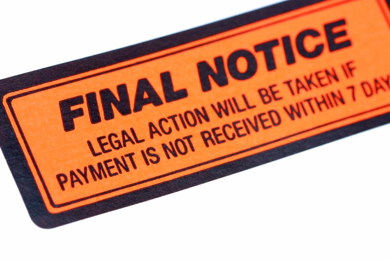 Facing debt collections