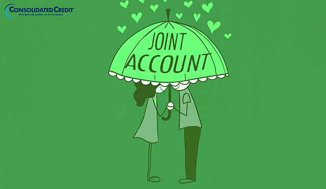 merge your finances into joint accounts