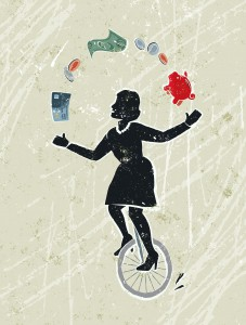 A juggling act with debt and money