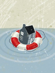 Mortgage insurance protects the lender from default
