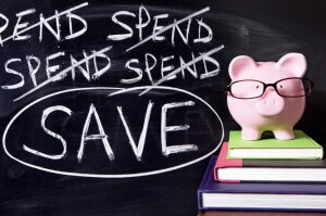 Cut back on spending to save money