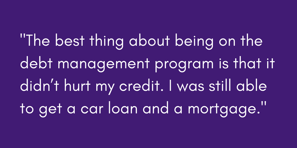 Renee's favorite thing about her debt management program was the positive impact it had on her credit.