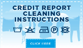 Infographic: Credit Report Cleaning Instructions