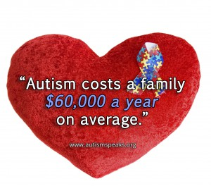 Care for an autistic child can cost up to $60K per year