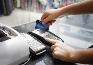 Swipe a credit card