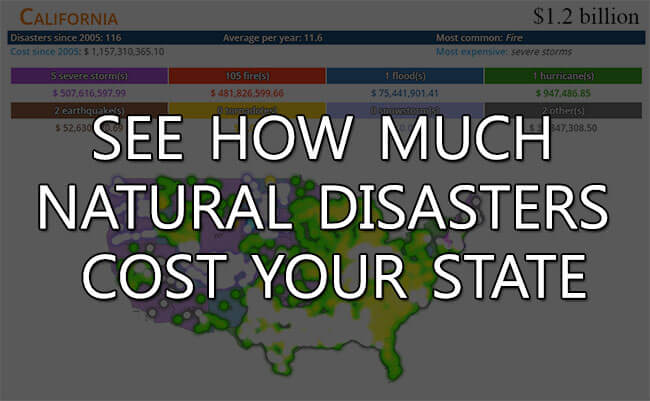 See how much natural disasters cost your state in our extreme weather map