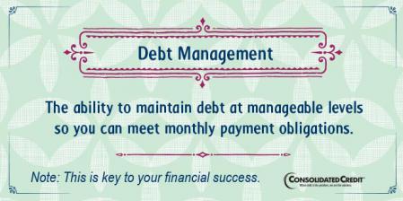 Debt management financial literacy tip
